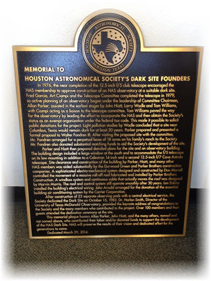 Founders Day Plaque
