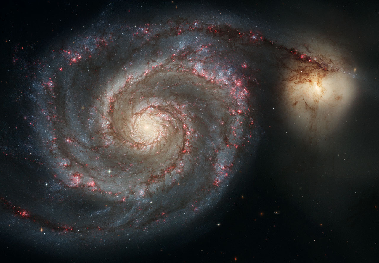 M51, Image credit: ESA/Hubble