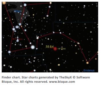 55 Eridani, a double star